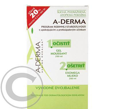 A-DERMA Exomega lait 200ml   Exomega Gel mouss 250ml