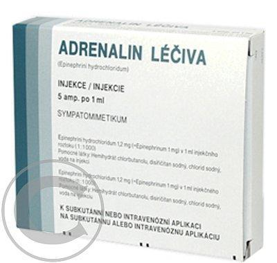 ADRENALIN LÉČIVA INJ 5X1ML/1MG