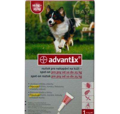 Advantix pro psy spot-on 10-25 kg 1 x 2.5 ml
