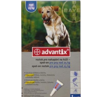 Advantix pro psy spot-on nad 25 kg 1 x 4 ml