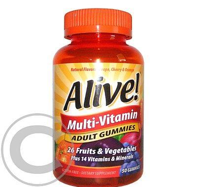 Alive! Multi-Vitamin ADULT GUMMIES 50ks
