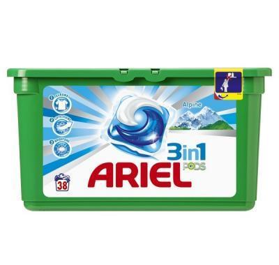 Ariel gel kapsle Alpine 3in1 38 kusů