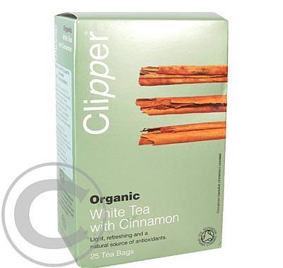 Čaj Clipper organic white tea   Cinnamon 25x2g