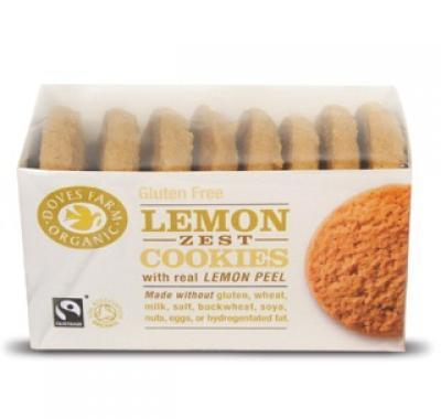 BIO a FAIR TRADE Doves Farm Citronové cookies bez lepku 150 g
