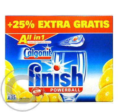 Calgonit Finish Powerball All in 1 Lemon  - 28 7ks
