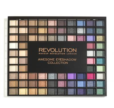 Makeup Revolution  100 es Palette Nudes and Smoked Collection - paletka 100 očních stínů