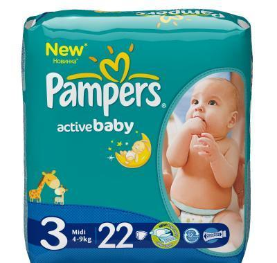 Pampers Active baby 3 midi 4 - 9 kg 22 kusů