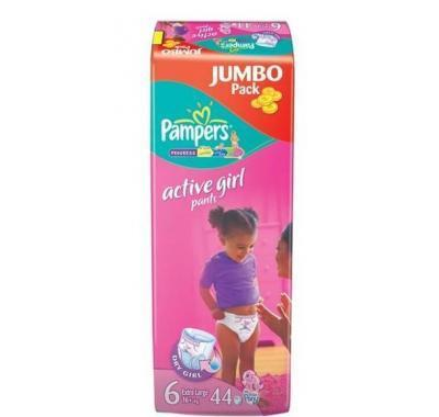Pampers Active pants girl 6 extra large 16  kg 44 kusů